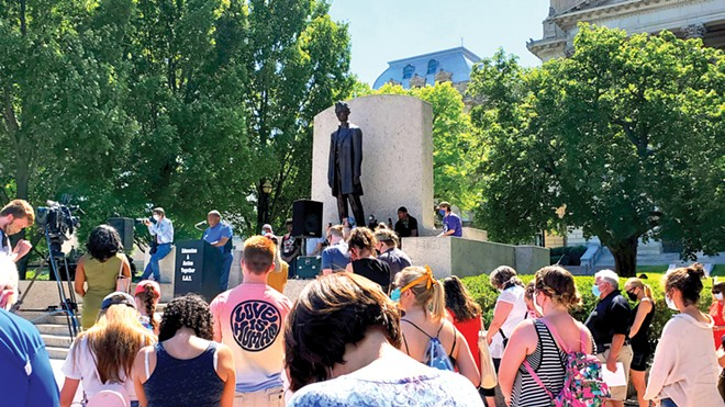 On Sunday, June 7, faith leaders and politicians were among those who rallied around propelling the movement forward. T. Ray McJunkins, pastor of Union Baptist Church in Springfield, led a prayer.