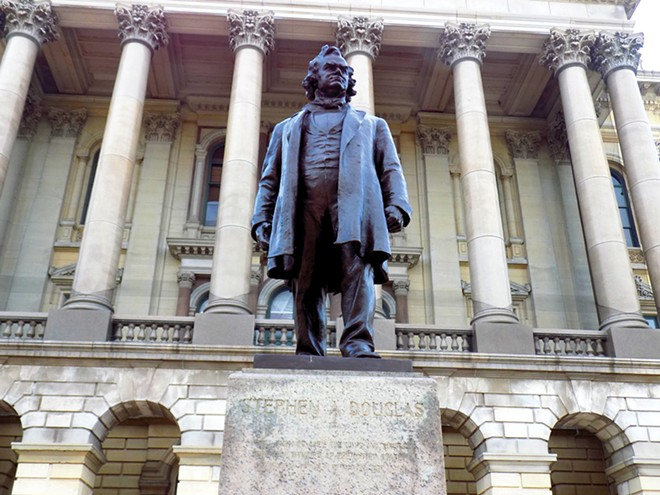 House Speaker Michael Madigan wants depictions of Stephen Douglas gone from the Capitol. - PHOTO BY BRUCE RUSHTON