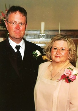 David and Kathy Blanchette at their daughter's wedding in 2006. - PHOTO BY ROBIN JACAWAY.