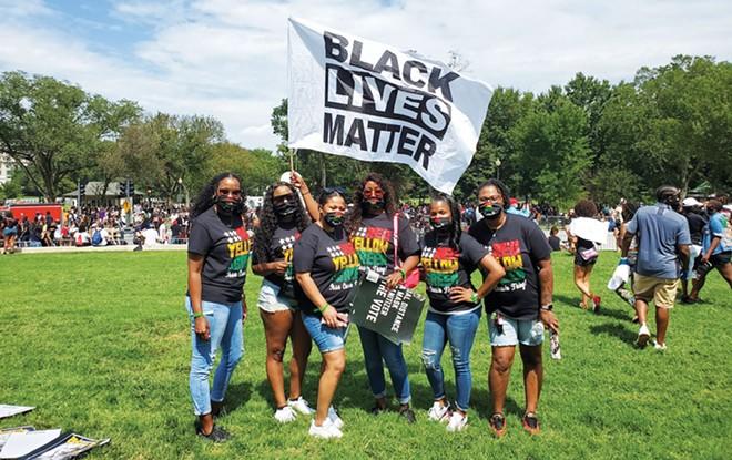 Kish Broomfield and family at the March on Washington 2020. - PHOTO COURTESY OF KISH BROOMFIELD