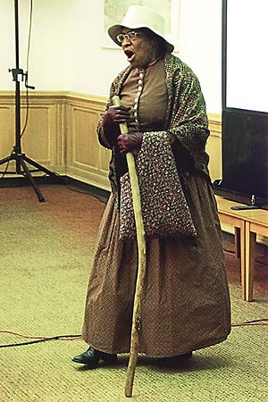For the past 20 years, Harris has portrayed former slave and abolitionist Harriet Tubman, as well other historical characters, before school groups and at community events. She is scheduled for two upcoming presentations on Harriet Tubman, Oct. 21 and Nov. 4. See calendar listings on pages 26 and 27. - PHOTO COURTESY KATHRYN HARRIS