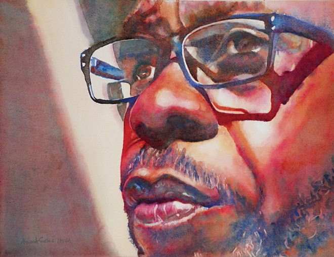 A painting of Keith Battles by Aneita Gates, which was shown earlier this year at Springfield Art Association for an exhibit titled Facing Homelessness. - PAINTING BY ANEITA GATES