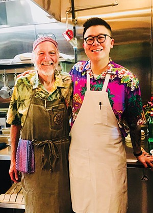 Peter Glatz and Chef Paul Wang - PHOTO BY ANN SHAFFER GLATZ