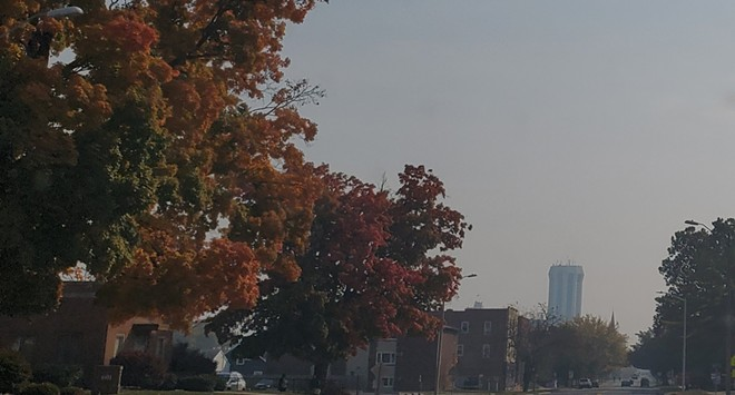 Skies in downtown Springfield were hazy on Friday morning. - RACHEL OTWELL