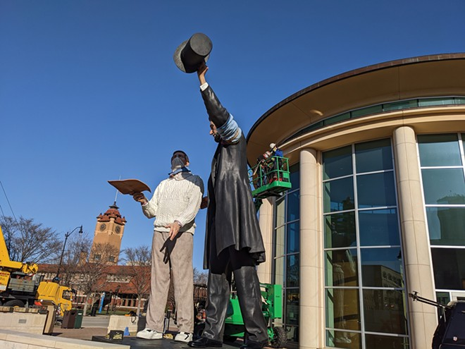 The DTPLM would be perfect for the statue crews removed from the ALPLM this week. - PHOTO BY BRUCE RUSHTON