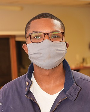 """Cleaning General Janitorial Services owner Dushun Hogan wants to """"reassure our clients that we are doing our part to help fight against COVID."""" - PHOTO BY DAVID BLANCHETTE"""