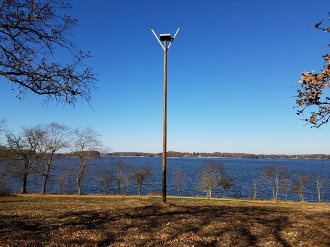 Lincoln Memorial Garden osprey artificial nesting platform - PHOTO COURTESY OF IDNR