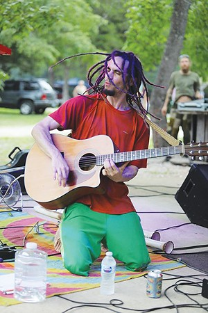 BongoJak (pictured) vs. the Loop Machine is - scheduled to perform this Saturday at the Adams Family Patio near Buzz Bomb Brewing Company in lovely downtown Springfield.