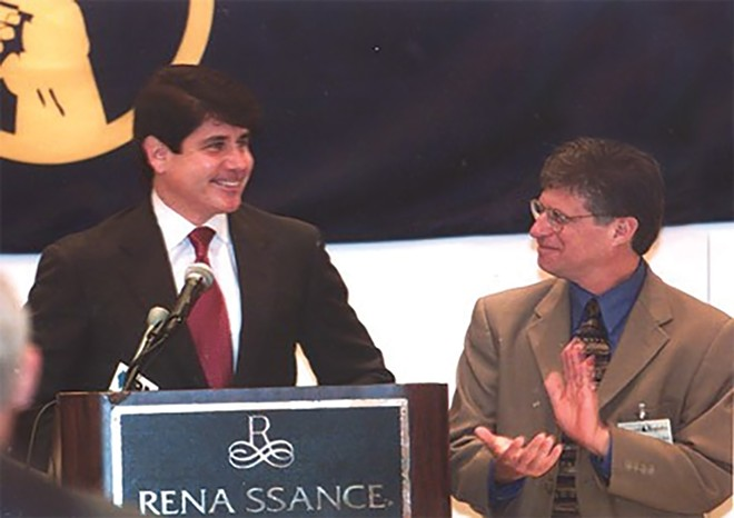 Schoenburg with former Gov. Rod Blagojevich.