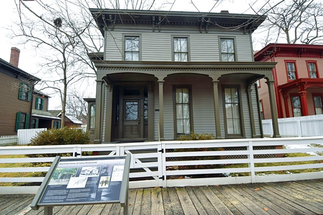 The boyhood home of Julius Rosenwald is used as the staff office for the National Park Service in Springfield. - PHOTO BY DAVID BLANCHETTE