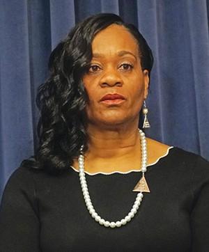 Kimberly Lightford is Senate Majority Leader and chair of the Illinois Legislative Black Caucus. - PHOTO BY LEE MILNER, 2019
