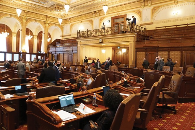 Lawmakers met in January for the lame-duck session, much of which included four pillars addressing systemic racism, put forth by the legislative Black Caucus. - PHOTO BY LEE MILNER