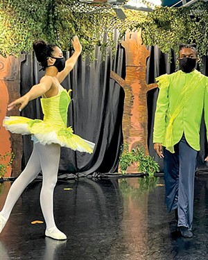 Dancers performed with masks and were filmed during the Springfield Dance production of The Princess and the Frog last November. - PHOTO COURTESY SPRINGFIELD DANCE