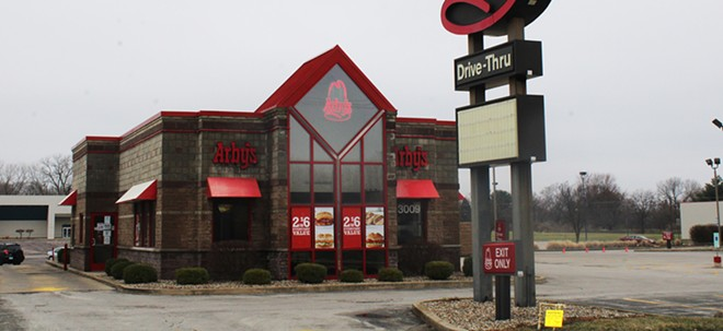 Arby's at 3009 S. Dirksen Pkwy. closed its doors through the end of March due to the norovirus outbreak. - PHOTO BY CAROL WEEMS