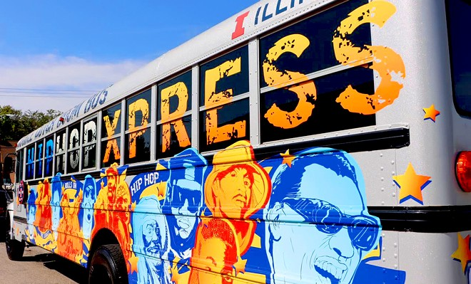 The Hip-Hop Xpress is a mobile recording and production studio. - PHOTO BY BLAKE WOOD, UIS