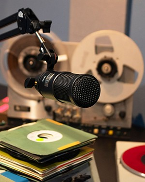 The exhibit features a working radio studio - CREDIT: ALPLM