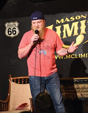 Stand-up comedian Jeff Tolbert performing at Mason City Limits. - PHOTO NICOLE TOLBERT