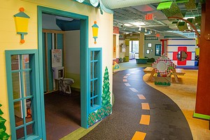 """A scene from inside the museum of its """"healthy community"""" exhibit. - CREDIT: KIDZEUM.ORG"""