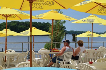 The Loading Dock in Grafton is one of many restaurants and bars at the water's edge.