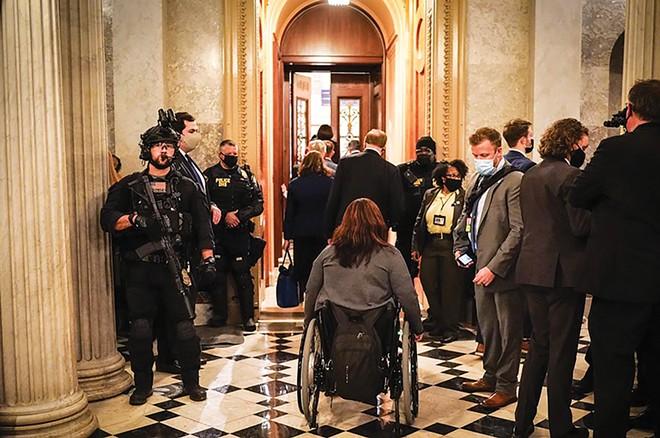 Duckworth returns to the U.S. Capitol on Jan. 6, to certify election results. - PHOTO COURTESY U.S. SENATOR TAMMY DUCKWORTH.