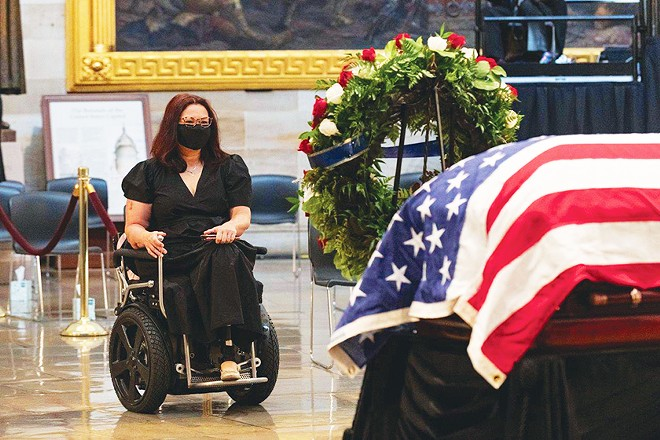 Duckworth honors the late Congressman John Lewis as he lies in state at the U.S. Capitol.