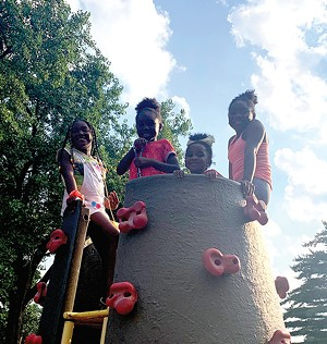 Children played at Comer Cox Park during the kickoff event for the Teen Empowerment Zone. Kids ages 5-12 will be invited to participate in day camps on Tuesdays and the teens will serve as counselors. - PHOTO COURTESY SPRINGFIELD PARK DISTRICT