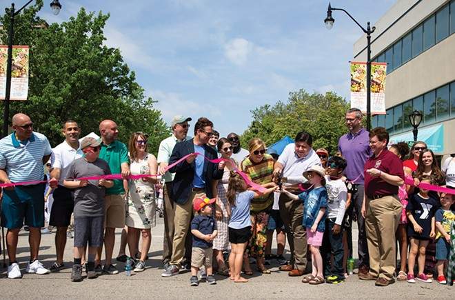 The 2019 ribbon cutting of the Old Capitol Farmers Market by Gov. JB Pritzker and first lady MK Pritzker. - COURTESY OF LISA CLEMMONS STOTT