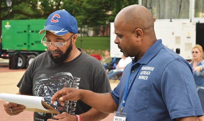 DeAndre Neal, a neighborhood outreach worker with the Urban Action Network, has been making contact with people in underrepresented zip codes to get additional survey responses. - PHOTO COURTESY CITY OF SPRINGFIELD