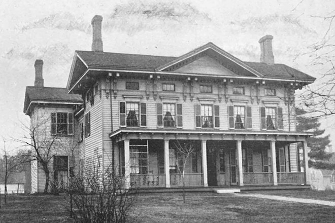 This house stood on the west side of Fourth Street on land now occupied by the Mansion View Inn. It was the home of John Todd Stuart, who was Lincoln's law partner. - CREDIT: SANGAMON VALLEY COLLECTION