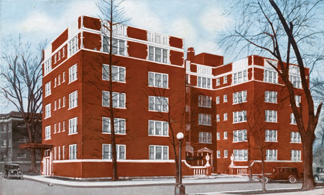 The Hickox Apartments, built by developer Harris Hickox in the 1920s, are now listed on the National Register of Historic Places. - CREDIT: SANGAMON VALLEY COLLECTION