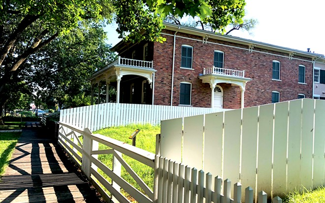 A reproduction of the Ninian Edwards home in which the Lincolns were married is now a conference center for the National Park Service.