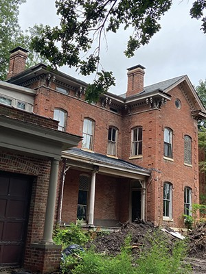 The old home, built in the 1860s, as it appeared earlier this week. - PHOTO BY CINDA ACKERMAN KLICKNA
