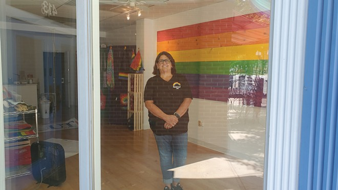 Jonna Cooley stands in the new Phoenix Center storefront on Adams Street as she works on getting it up and running. - CREDIT: RACHEL OTWELL