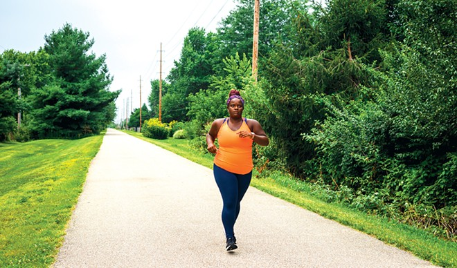 Springfield native Nattalyee Randall produced a documentary about her experience of running 50 miles to commemorate 50 Black and brown people killed by police. - PHOTO BY ZACH ADAMS, 1221 PHOTOGRAPHY.