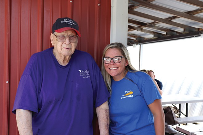 Bob Vose and his granddaughter, Kelsie Vose. - PHOTO BY MEREDITH HOWARD