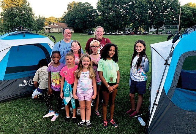 A group of campers from Camp Care-A-Lot 2019. - COURTESY COMPASS FOR KIDS