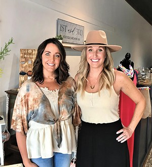 Sisters Elizabeth Carter (left) and Maggie Adkins are former teachers who opened 1st and 3rd Boutique and Wine Bar last year. - PHOTO COURTESY OF THE PETERSBURG OBSERVER
