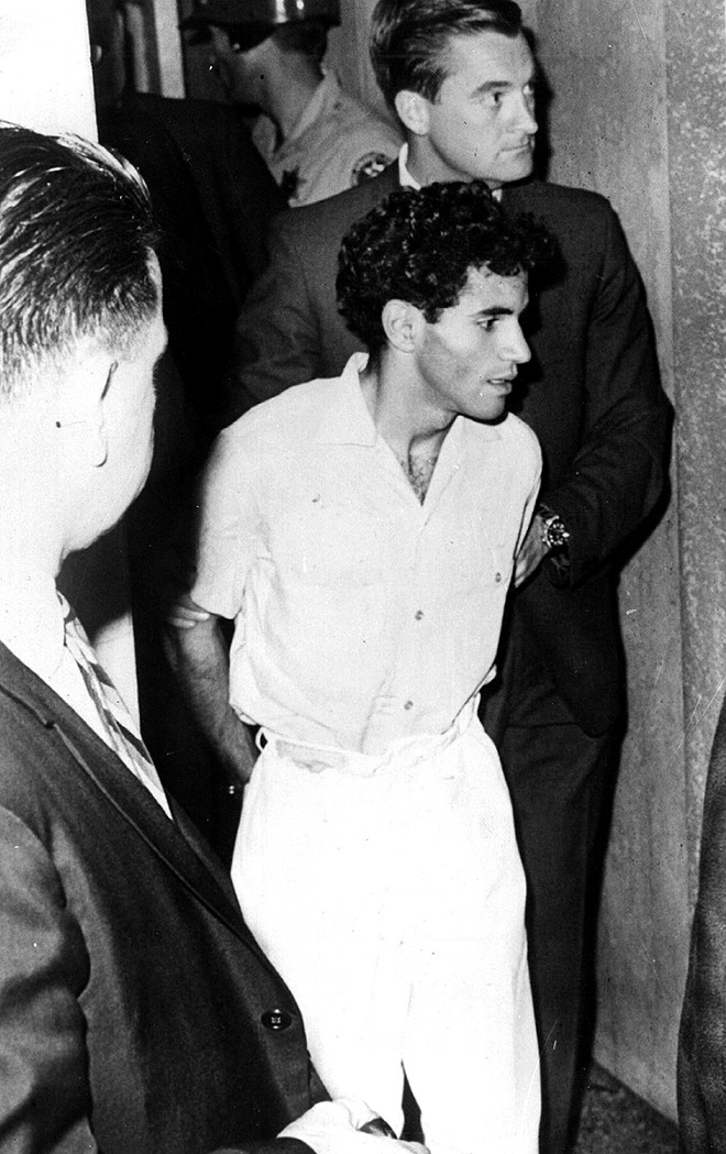 Sirhan Sirhan in custody in 1968 after the assassination of Sen. Robert Kennedy during a campaign stop in Los Angeles. Now 77, he was recommended for parole by the California Parole Board. - PHOTO BY KEYSTONE/GETTY IMAGES/TNS