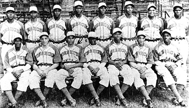 """The 1941 Kansas City Monarchs won the Negro American League pennant that year. The Monarchs played 37 years in the Negro Leagues. Among their alumni were James """"Cool Papa"""" Bell, Satchel Paige, Jackie Robinson and Ernie Banks. - PHOTO COURTESY NEGRO LEAGUES BASEBALL MUSEUM"""