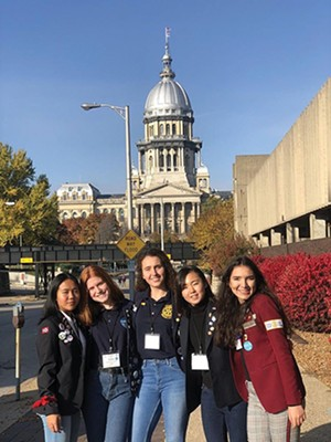 2018 inbound exchange students from Italy, Norway, Japan, Brazil and Venezuela. - PHOTO COURTESY BARB MALANY