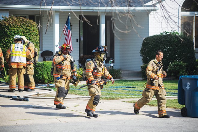 Earlier in September, the Springfield Fire Department responded to a residential fire on the west side of the city. Photographer Zach Adams was near the scene and caught photos of the efforts. - CREDIT: ZACH ADAMS, 1221 PHOTOGRAPHY