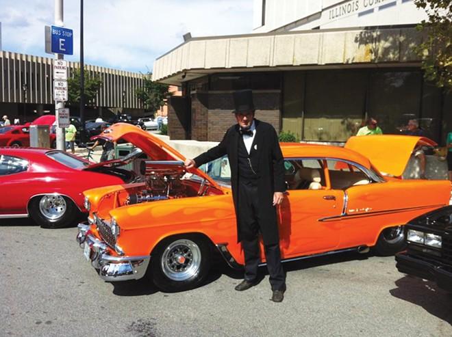 Springfield's most famous citizen appreciates Louis Jackson's award-winning '55 Chevy. - CREDIT: LOUIS JACKSON