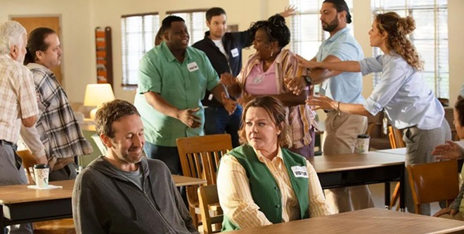 Scott O'Dowd and Melissa McCarthy in The Starling.