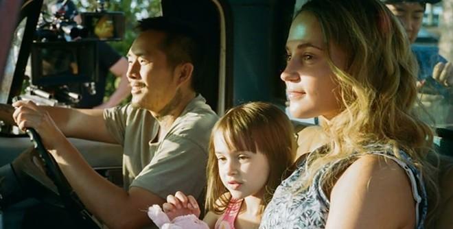 Justin Chon and Alicia Vikander in Blue Bayou.