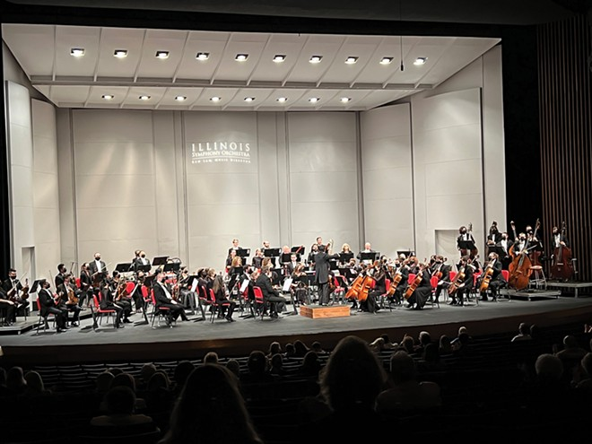 Illinois Symphony Orchestra onstage at the UIS Performing Arts Center on Saturday, Oct.  9. - PHOTO COURTESY OF ILLINOIS SYMPHONY ORCHESTRA