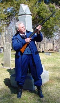 Bob McCue will portray his famous   ancestor, Capt. Adam Bogardus, at Elkhart's Spring Festival on May 19.
