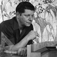 Seymour Fogel in his studio, 1955