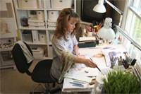 Tiffany Beane in her studio