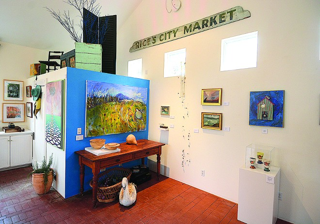 """""""West"""" is the third pop-up exhibit at the Little Pink House Gallery. It features 15 regional artists exploring the west as a metaphor."""