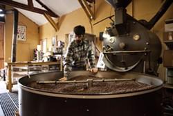 Jon Binninger roasts coffee beans from around the globe at his roastery outside Troy, Idaho.